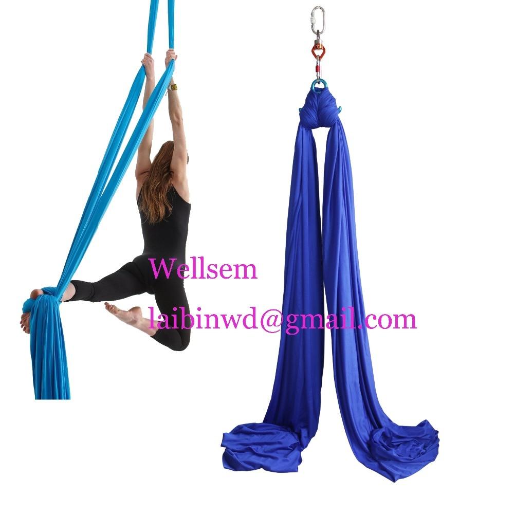 Wellsem 8.2x2.8M Aerial Silks Equipment Anti gravity Yoga ...