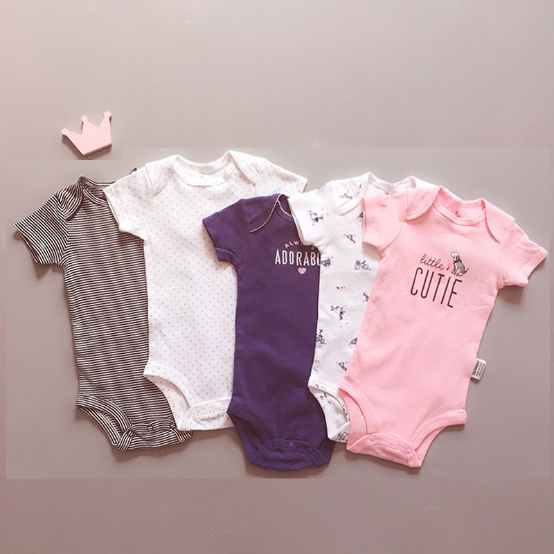 Baby Rompers 5 Pieces A Set Soft Cotton Newborn Baby Girls Clothes Infant Jumpsuits Clothing Body Toddler Rompers Roupas Bebes