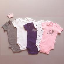 Bebek tulum 5 adet bir Set yumuşak pamuk yenidoğan bebek kız giysileri bebek tulumlar giyim vücut yürümeye başlayan tulum Roupas Bebes