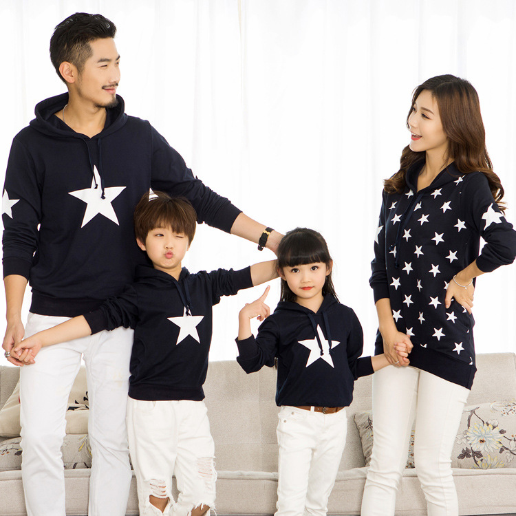 Christmas family matching clothes father mother daughter