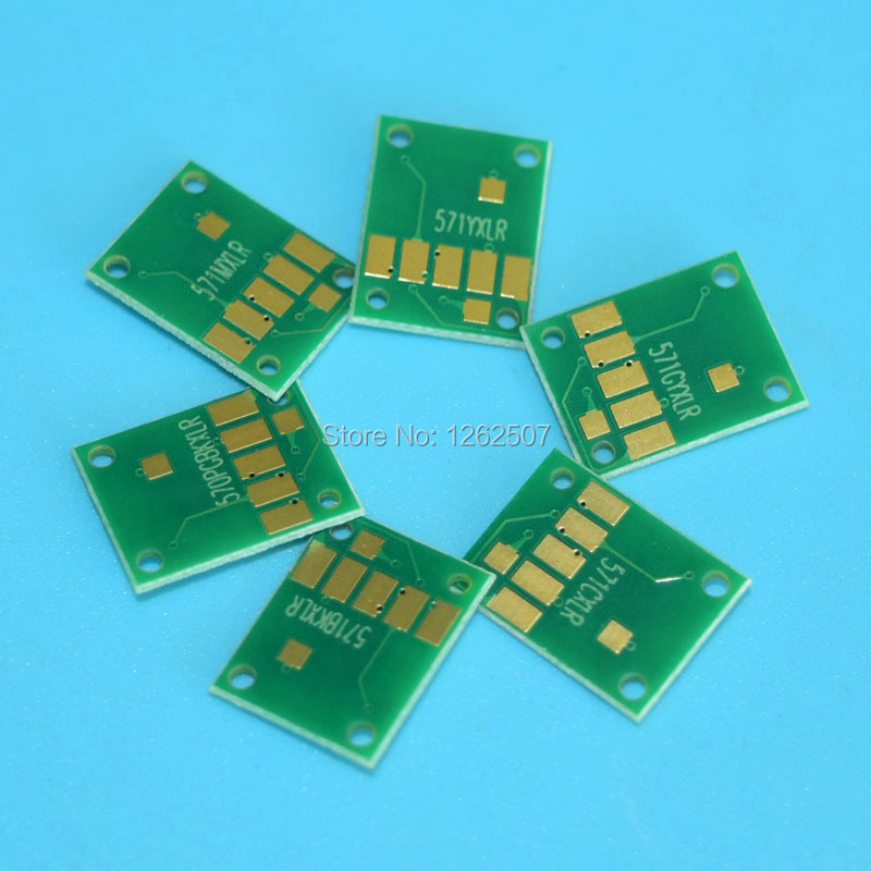 PGI570 CLI571 6color Toner cartridge chip arc auto reset chip for canon PGI-570 CLI-571 PGI 570 CLI 571 for canon MG5750 MG7750