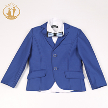Nimble blue suit for boy Single Breasted boys suits for weddings costume enfant garcon mariage boys blazer jogging garcon