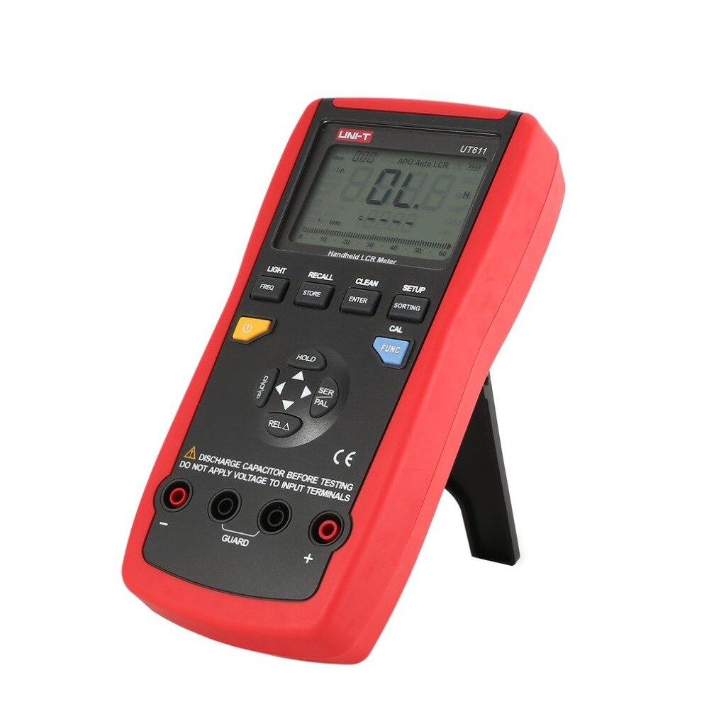 UNI-T UT611 Palmare LCR Ponte Digitale Da Tavolo Induttanza/Capacità/Tester di Resistenza di Memorizzazione Dei Dati LCD Retroilluminazione