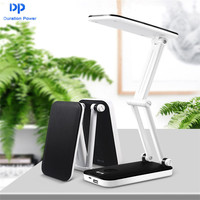 DP New 2 In 1 Portable LED Table Lamp Workers Reading Night Lights Mobile Power Adjustable