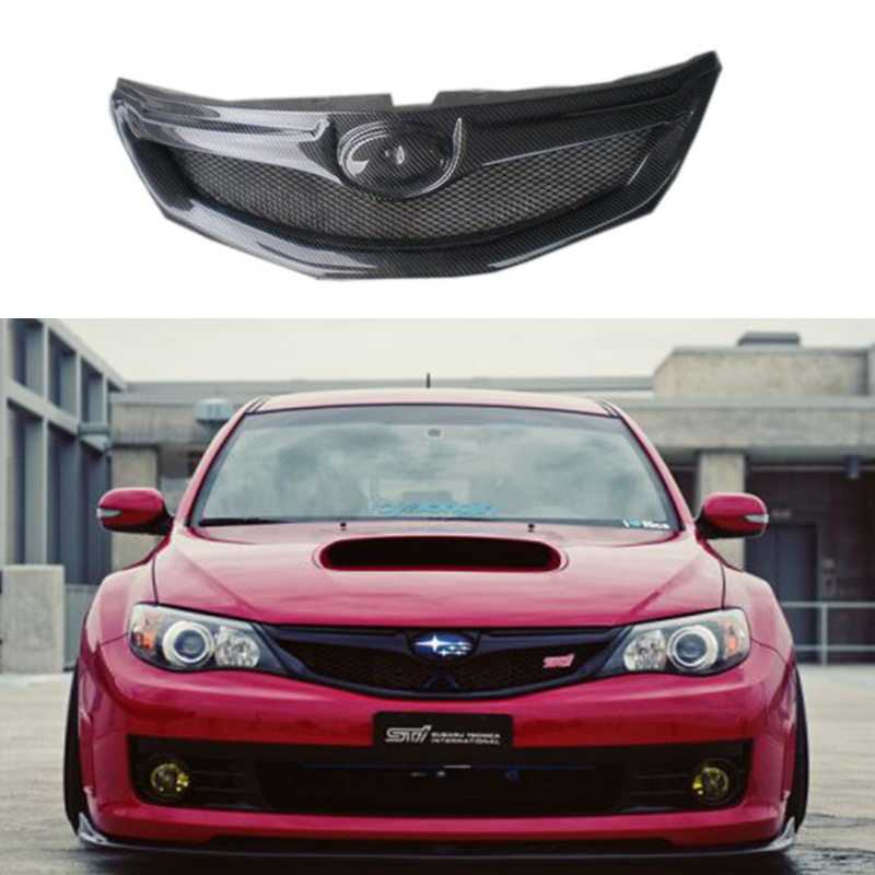 Car Styling OEM carbon fiber Front mesh Grill Grille For Subaru Impreza WRX 10th 2008~2011