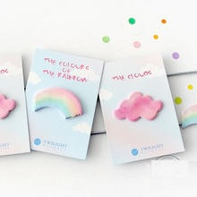 40 pcs/Lot Rainbow color stickers scrapbooking accessories Cartoon cloud memo note Office School supplies post it escolar CM692