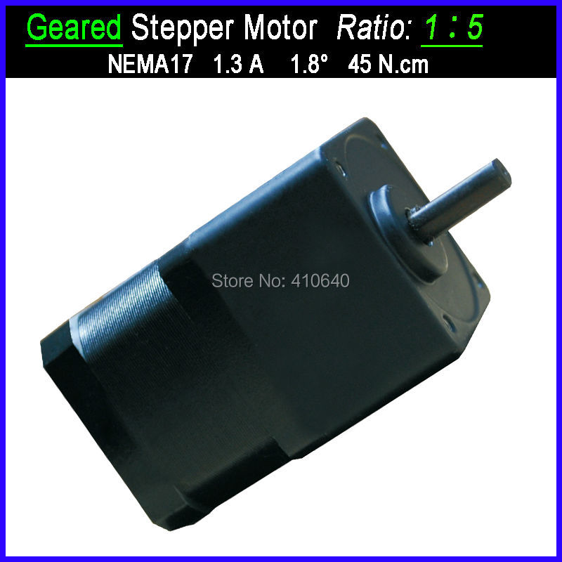 1:5 Ratio NEMA 17 Geared Stepper Motor with FACTORY BOTTOM LOWER Price OTHER Ratio Available For Supplying цена