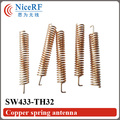 20 unids/lote Cobre Antena Primavera SW433-TH32 433 MHz módulo de RF inalámbrico