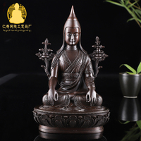 Pure Copper Buddha Decoration /Long Qin Buddha /pure Copper made Ancient Color Buddha 3 inch 5 inches 7 inches