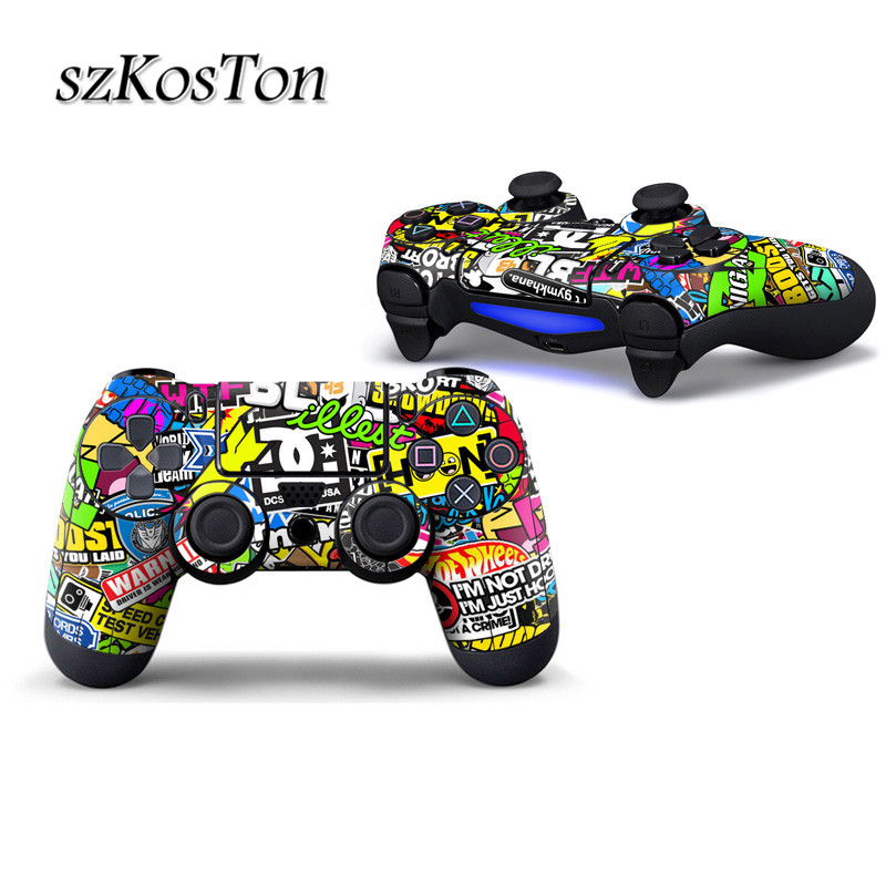 Protective Cover Sticker For Sony Playstation 4 Cotroller Lights Anti-Dust Case Stickers For Playstation 4 Decal Accessories
