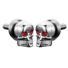 High Quality A Pair/Set Motorcycle Car Accessories Skull Decoration License Plate Frame Bolts Screw Fastener For