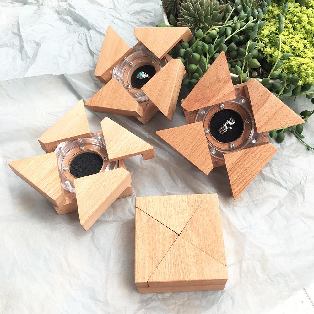 Wedding Ring Box Handmade Wooden Jewelry Box Gift Boxes Boite A Bijoux Boite Cadeau Sieraden Doos Creative Engagement Ring Box