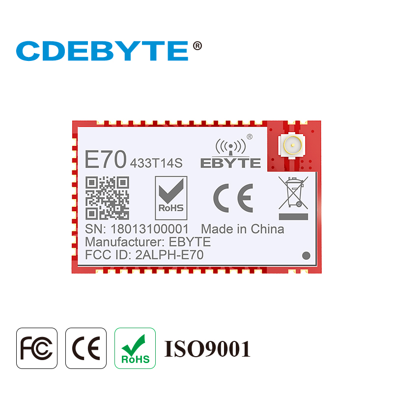 E70-433T14S Dual Core ARM CC1310 433mhz 25mW IPX Stamp Hole Antenna Uhf Wireless Transceiver Transmitter Receiver CC1310 433 Mhz