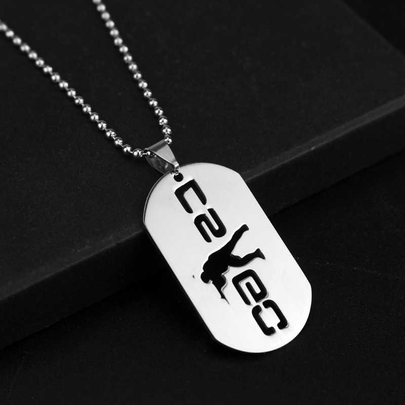 Game Cs Go Stainless Steel Necklace Hollow Dog Tags Pendants Neckalces Beads Chain Hot Jewelry