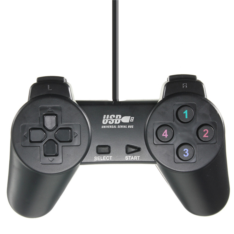 New Arrival Wired USB 2.0 Black Gamepad Joystick Joypad ...