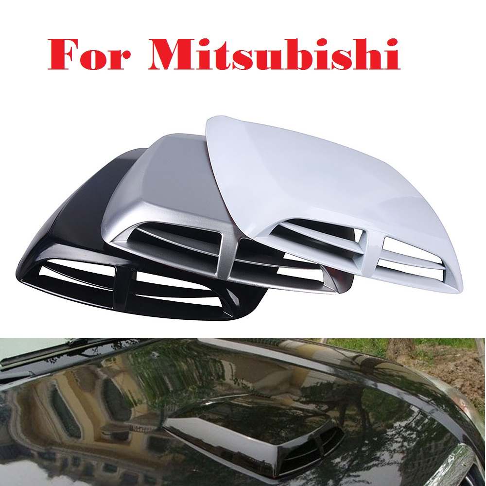 Car Air Flow Intake Hood Scoop Bonnet Vent Stickers for Mitsubishi Galant i i-MiEV Lancer Lancer Cargo Evolution Ralliart Minica