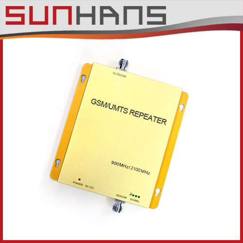GSM/UMTS980 (900/2100 MHz) GSM e 3G Celular Amplificador de Sinal RF Repetidor de Banda Dupla impulsionador + Frete Grátis