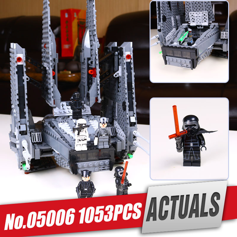 Lepin 05006 star series Hot Sale Kylo Ren Command Shuttle Wars LegoINGlys 75104 Blocks Kid's Toys compatible Toys for Holiday star wars 75104 командный шаттл кайло рена