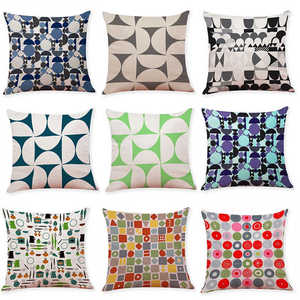 Image 2 - Renkli desen yastık kılıfı kapak süper yumuşak kumaş ev yastık basit geometrik atmak yatak yastık kılıfı yastık kapakları