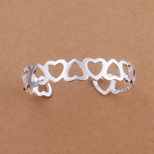 2015 new arrived 925 sterling silver jewelry loverly  full heart  open bangle cuff  bracelet  bangle for women