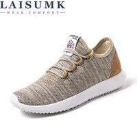2018 LAISUMK Men Casual Shoes Breathable Mesh Shoes Lightweight Men Flats Brand Male Shoes Sneakers Tenis