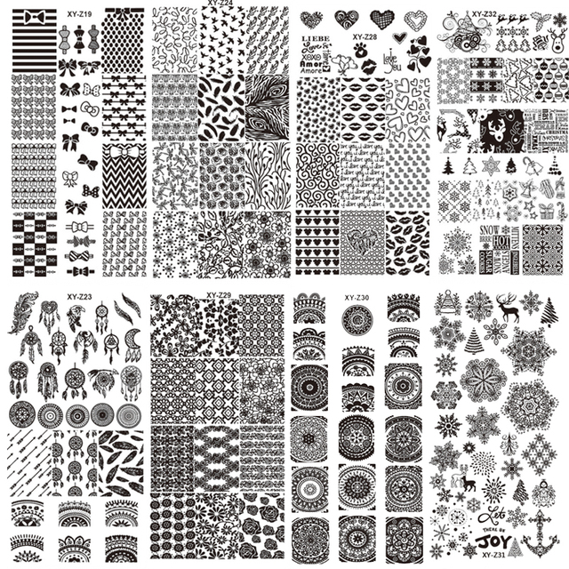 New Assorted Designs Nail Art Metal Plate Image Stamping Plates DIY Manicure Printing Template Plate Tool XYZ17-32