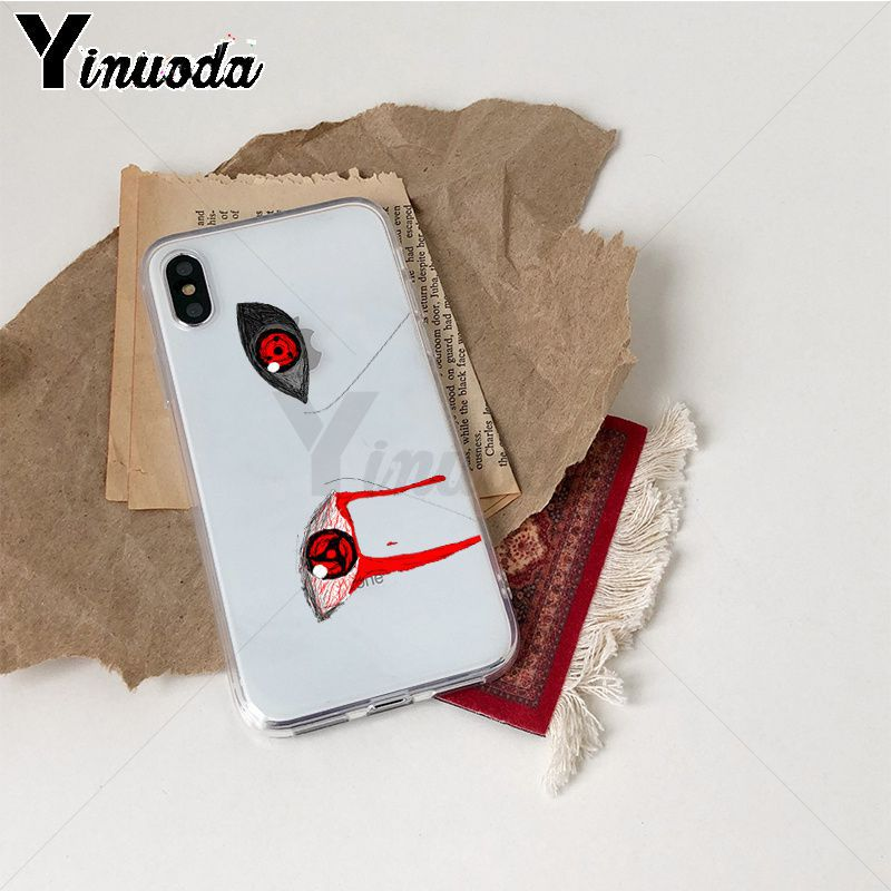 Image 3 - Yinuoda Anime Naruto Eyes Sharingan TPU Soft Silicone Phone Case Coque for iPhone Xr XsMax 8 7 6 6S Plus Xs X 5 5S SE 5C Cases-in Half-wrapped Cases from Cellphones & Telecommunications