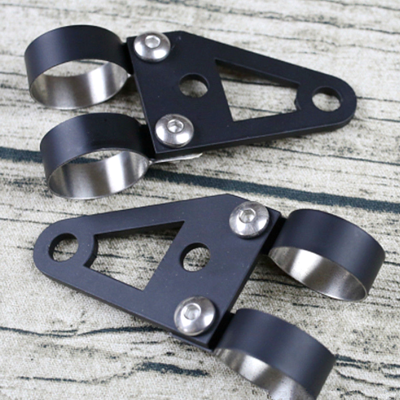 Custom Hand-made Universal Black Steel Headlight Bracket Turn Lights Bracket For Custom-made Retro Vintage Motorcycle Short