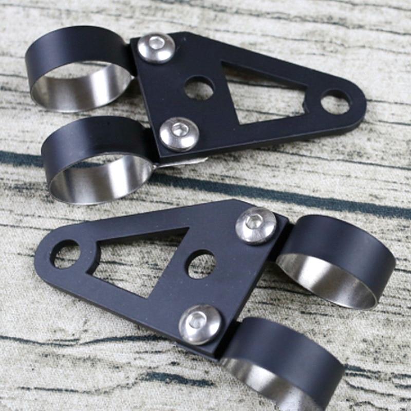 Custom hand-made universal black steel headlight bracket turn lights for custom-made retro vintage motorcycle short