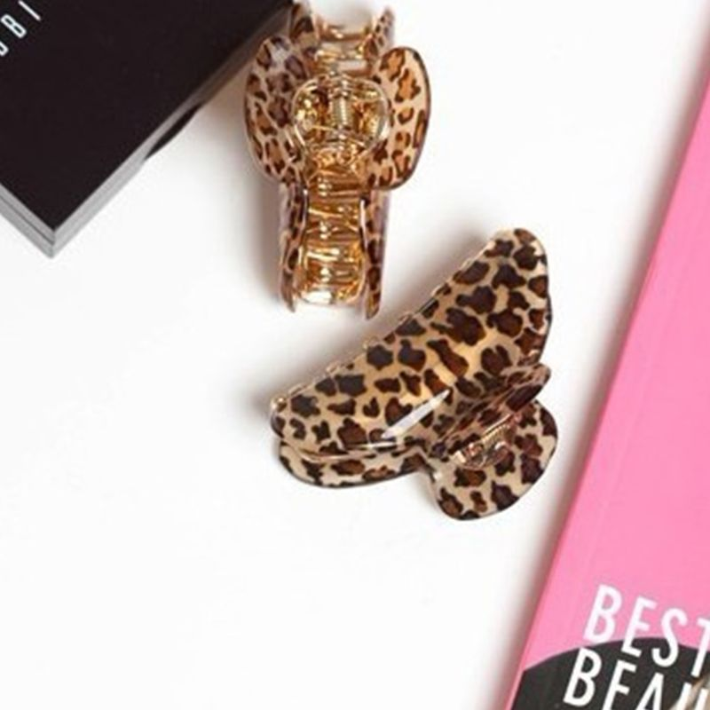 2 Sizes Women Acrylic Leopard Hair Claw Clips Hairband Barrette Crab Clamp Hair Accessories in Women 39 s Hair Accessories from Apparel Accessories