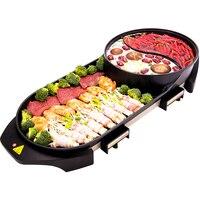 다기능 전기 오븐 대형 그릴 chafing 요리 철판 가정용 무연 베이킹 팬 로스터 린스 통합 냄비