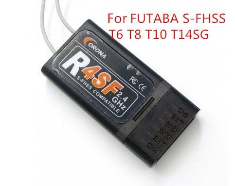 Corona 2,4G R4SF/R6SF/R8SF Kompatiblen Receiver f/FUTABA S-FHSS T6 14SG