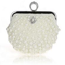 ALIEME Wedding Bags And Evening Bag Lady Beading Rhinestones Women Evening Bags Clutch Diamonds Fashion Pearl Chain Bags 47