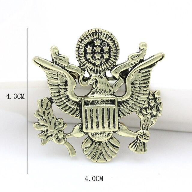 Baiduqiandu бренд свобода медали Орел эмаль значок броши и нагрудные булавки для мужчин