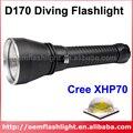 D170 Cree XHP70 Белый 4000 Люмен Плавная Скорректированная Дайвинг LED Фонарик-Черный (2x26650)