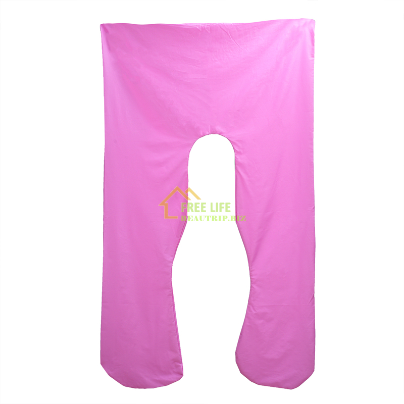 Solid Pillowcase Pillow Cover For U Shape Pregnancy Pillow