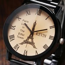 KEVIN Vintage Paris Eiffel Tower Dial Wrist Watch Women Lady Girl Quartz Watches Gift for Girlfriend Wristwatch W17110