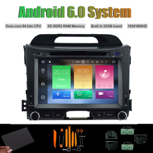 Android 6.0 Octa-core CAR DVD PLAYER for KIA SPORTAGE 2010-2014 Car Radio RDS WIFI 2G RAM 32GB Inand Flash (Without CANBUS)