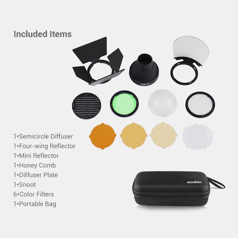 Godox AK-R1 schuurdeur, snoot, kleurenfilter, reflector, honingraat, - Camera en foto - Foto 6