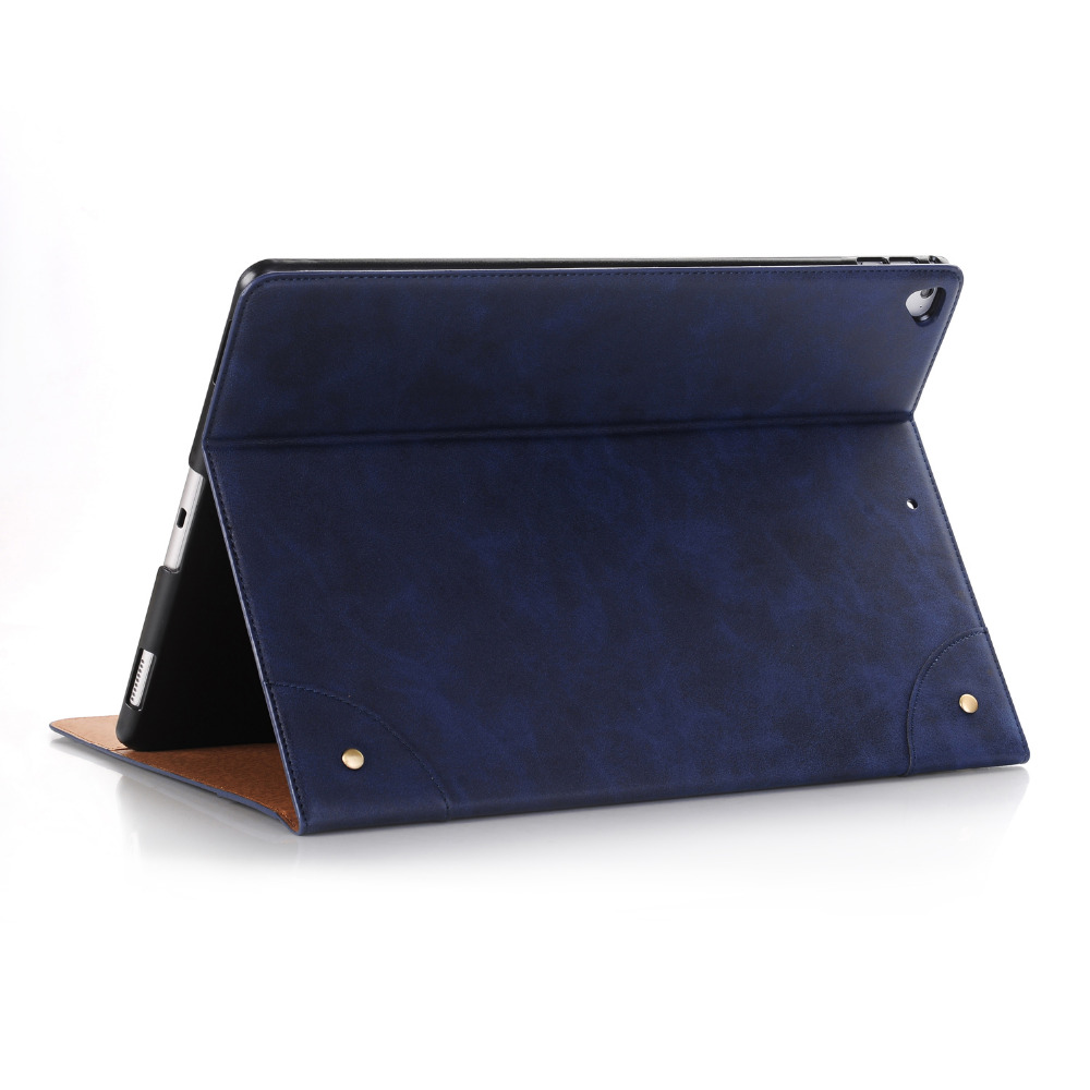 High Quality Retro Book Cover Card Holder Flip Stand PU Leather Magnet Smart Sleep Case For Apple iPad Pro 12.9 inch 2017 Tablet luxury cross pattern book cover card slot folio stand pu leather magnetic smart sleep case for apple ipad pro 12 9 inch tablet