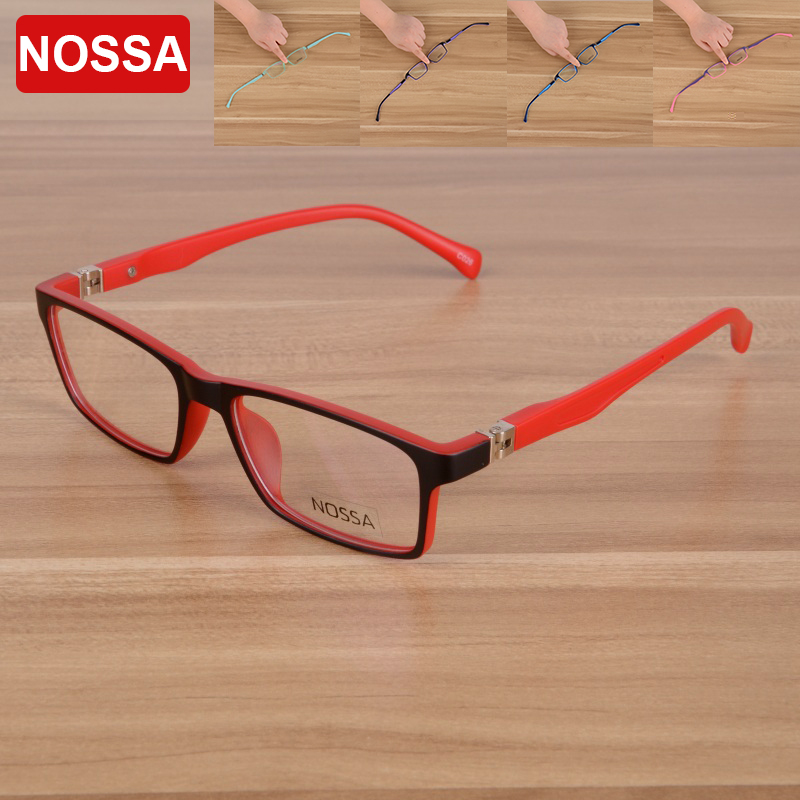 NOSSA High Quality TR90 Kids <font><b>Glasses</b></font> <font><b>Frame</b></font> <font><b>Unisex</b></font> Cool Designer Eyeglasses For Boys And Girls Delicate Red Children's Eyewear image