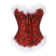 702b2af07 Caudatus Christmas Corsets For Women Miss Santa Bustier Top Corselet  Overbust Corset Halloween Costume Cosplay Plus Size Red