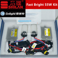 1 set F5 55W fast bright cnlight hid kit H1 H3 H7 H11 9005/6 880 Cnlight xenon hid conversion kit 4300K 5000K 6000K 8000K