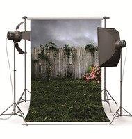 Düşkün Stüdyo Fotoğrafçılığı Arka Planında Prop Scenic Ahşap Çit Çim Vinil Fotoğraf Arka Fotoğraf Stüdyosu Düğün Çocuklar için