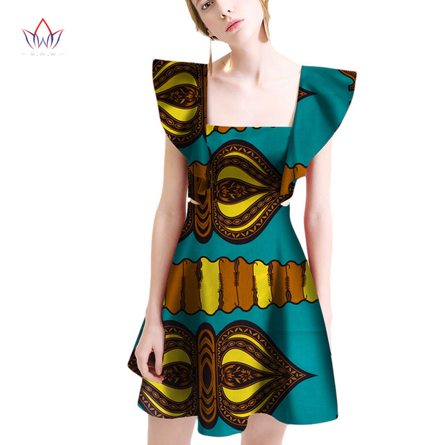 2018 summer Dresses Plus Size african dresses for women Square Collar women  african clothing knee length everyday dress WY2046 809477353ad7