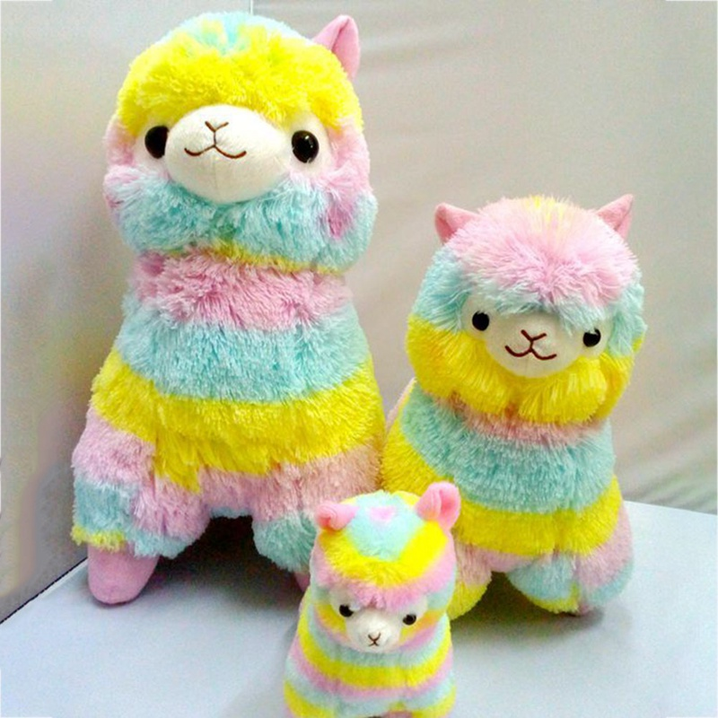 13cm 18cm Cute Plush Toy Dolls For Children High Quality Soft Cotton Colorful Alpaca Plush Toy Doll Animals For Gift