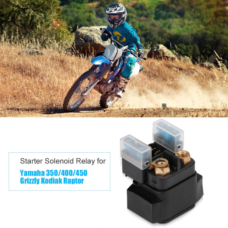 Motorcycle Starter Solenoid Relay Ignition Switch for Yamaha 350/400/450  Grizzly Kodiak Raptor ATV RHINO SNOWMOBILE WOLVERINE
