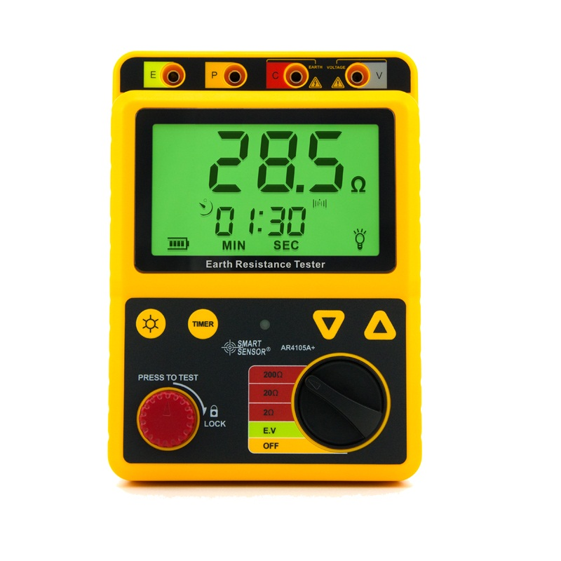 Smart sensor Digital earth resistance tester digital analog multimeter insulation resistance meters 2 Lines 3 Lines Ground