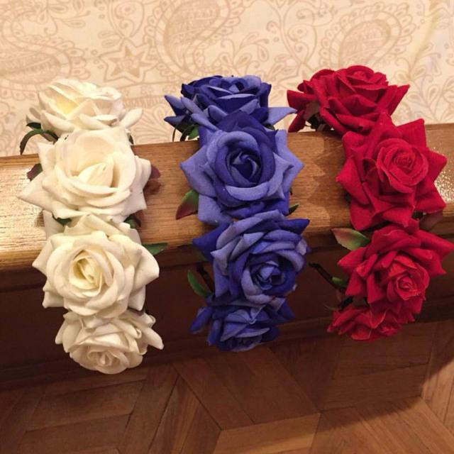 Opaska do włosów z różami