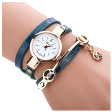 Ladies Metallic Strap Watch Spherical Dial Quartz Wrap Wrist Watch Bracelet Watch Color:Blue